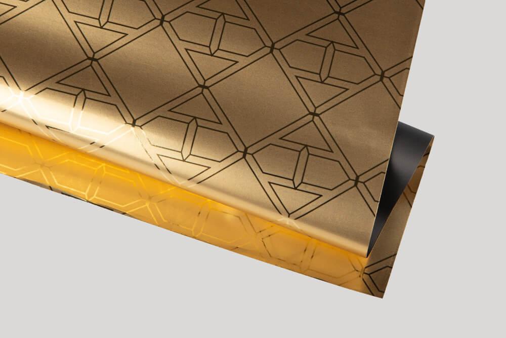 Papier d'emballage personnalisé - Papier métallisé