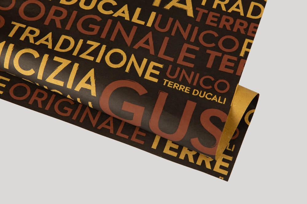 Papier d'emballage personnalisé - papier paille