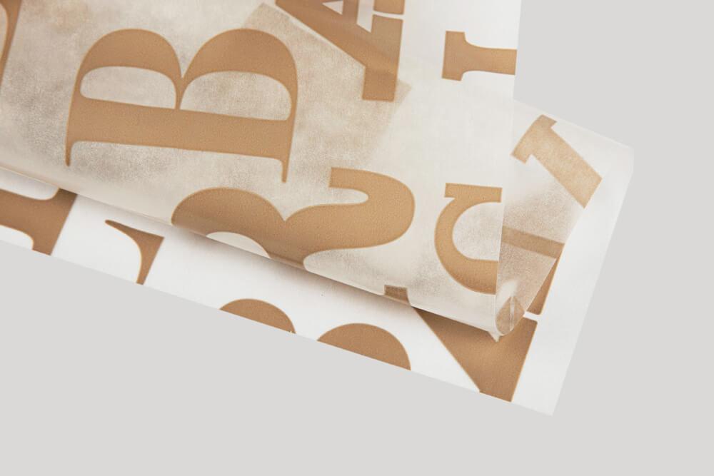 Papier d'emballage personnalisé - Papier ciré