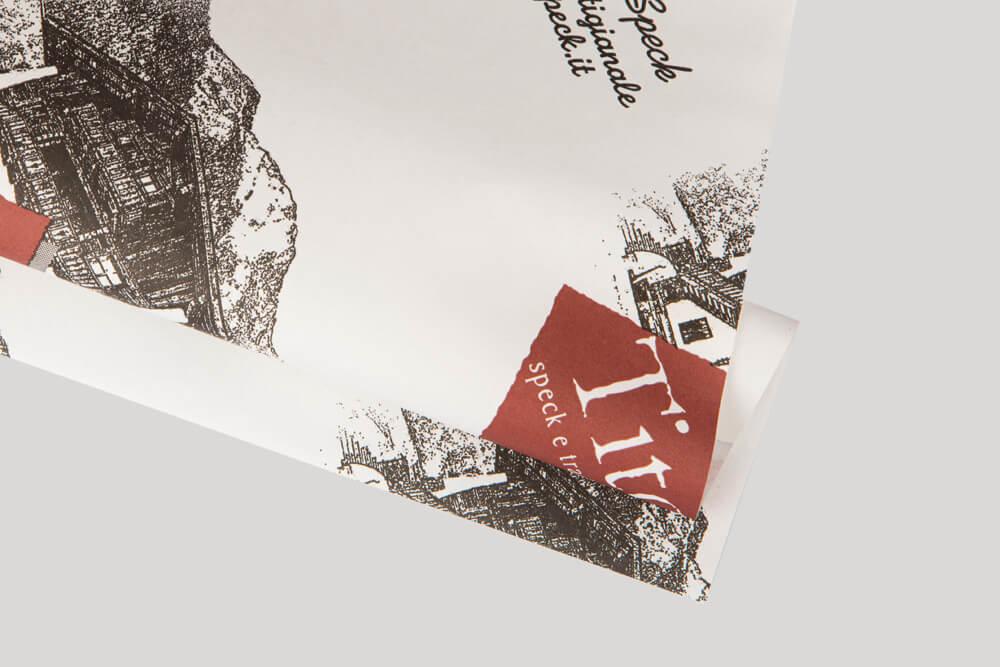 Papier d'emballage personnalisé - papier polyéthylène