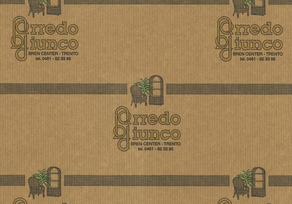 Papier d'étanchéité personnalisée sur mesure pour emballage avec logo ARREDO GIUNCO