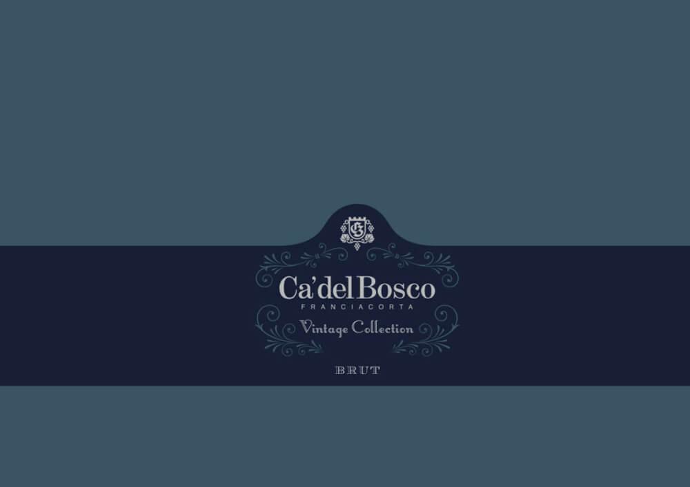 Papier de soie emballage bouteille vin champagne avec logo Ca del Bosco