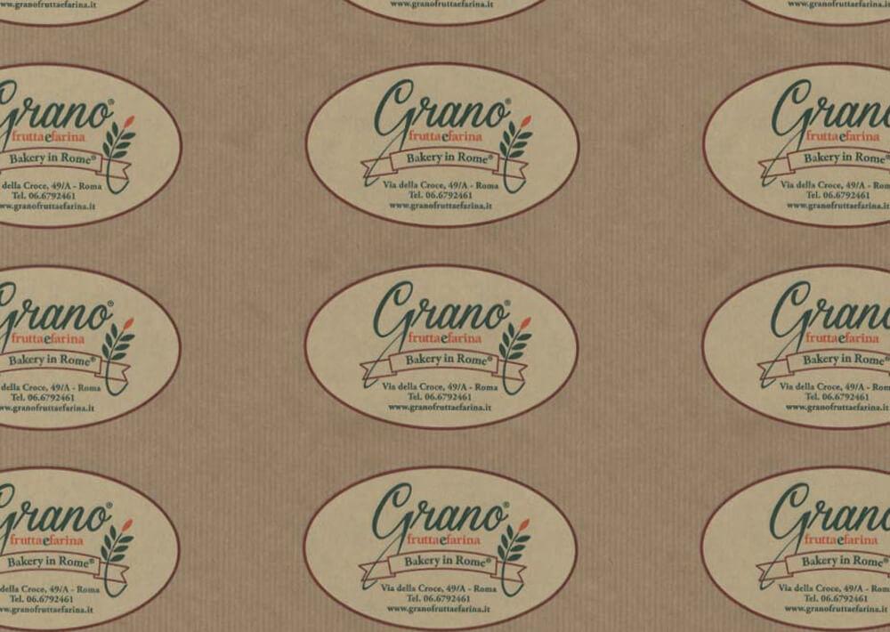 Papier alimentaire - Papier emballage alimentaire personnalisé avec logo GRANO