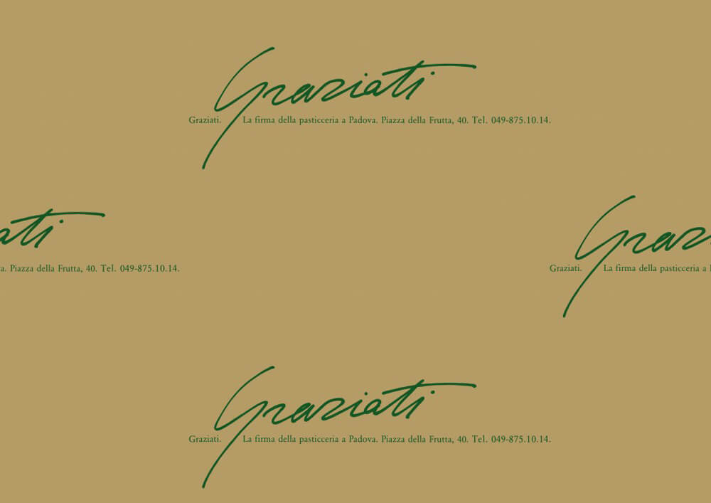 Papier patisserie - Papier emballage pour patisserie et confiserie avec logo Graziati