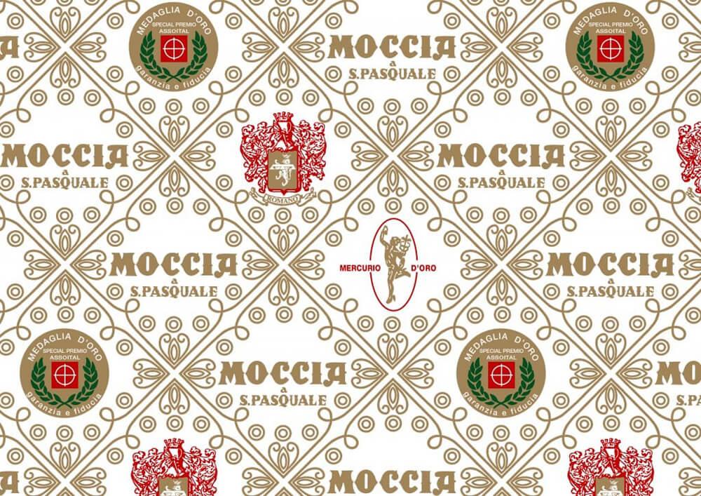 Papier patisserie - Papier emballage pour patisserie et confiserie avec logo Moccia