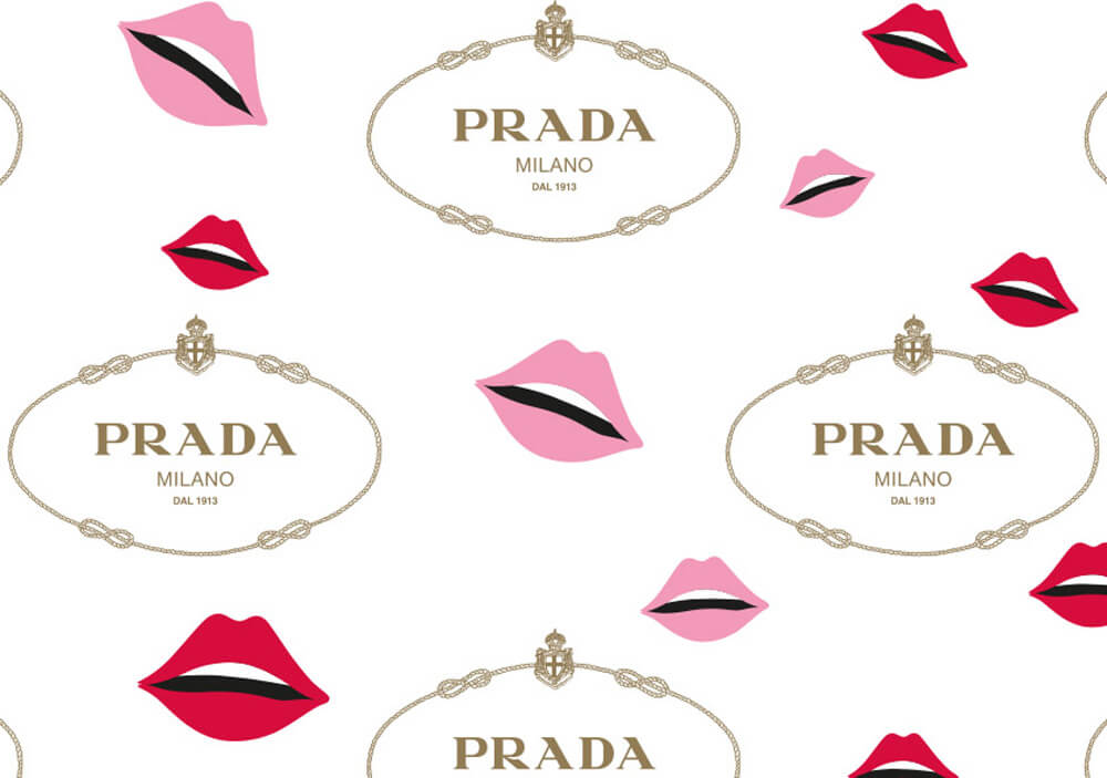 Papier emballage vetement - Papier de soie emballage vetement avec logo PRADA