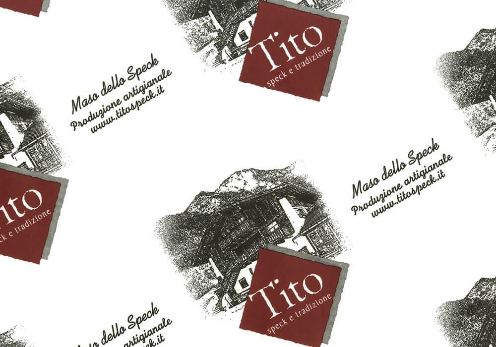 Papier polyéthylène personnalisée sur mesure pour emballage avec logo TITO