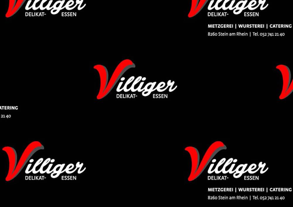 Papier polyéthylène personnalisée sur mesure pour emballage avec logo VILLIGER