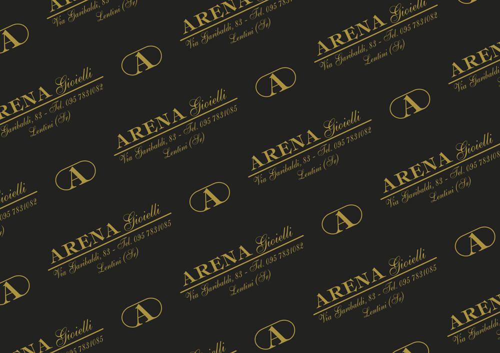 Papier métallisé - Papier métallisé personnalisé avec logo Arena