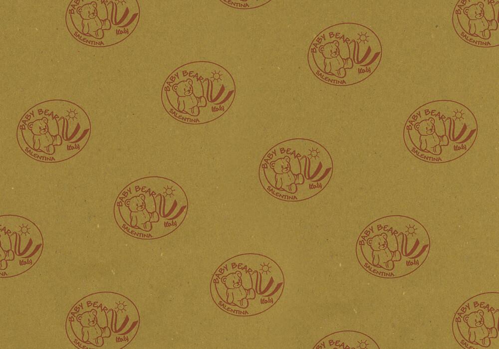 papier de paille personnalisée sur mesure pour emballage avec logo BABY BEAR