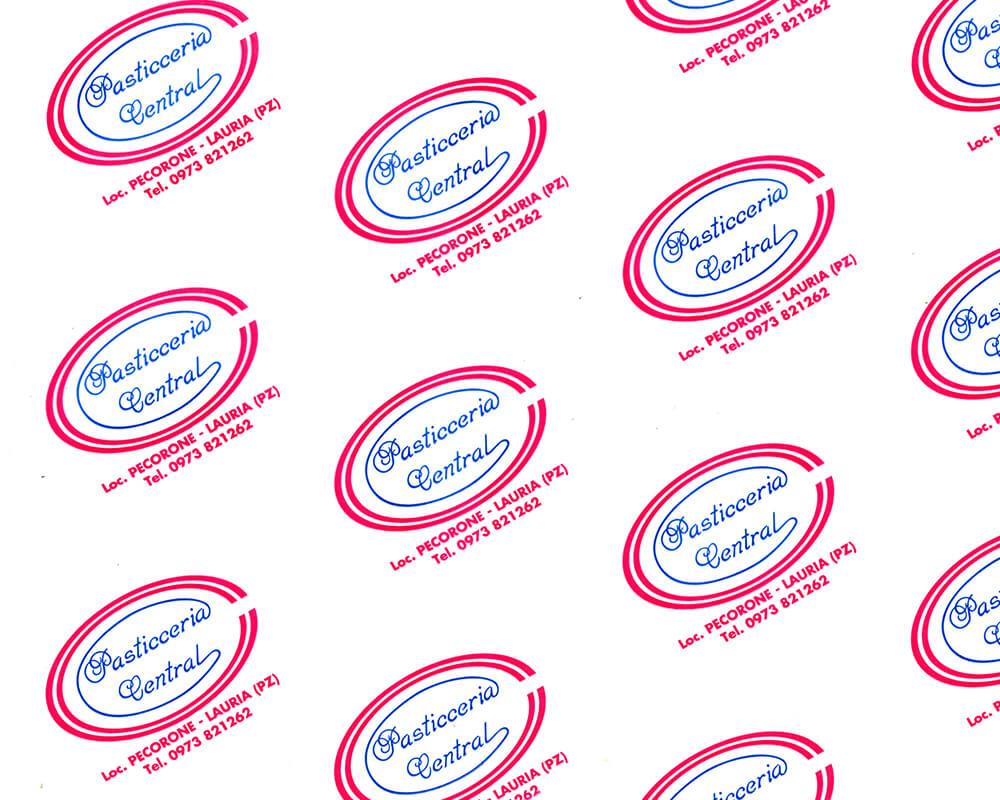 Papier parchemin - Papier parchemin avec logo personnalisé Pasticceria Centrale