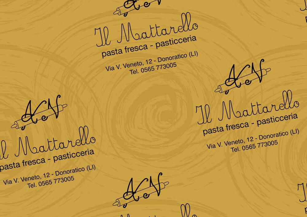 Papier métallisé - Papier métallisé personnalisé avec logo IL MATTARELLO