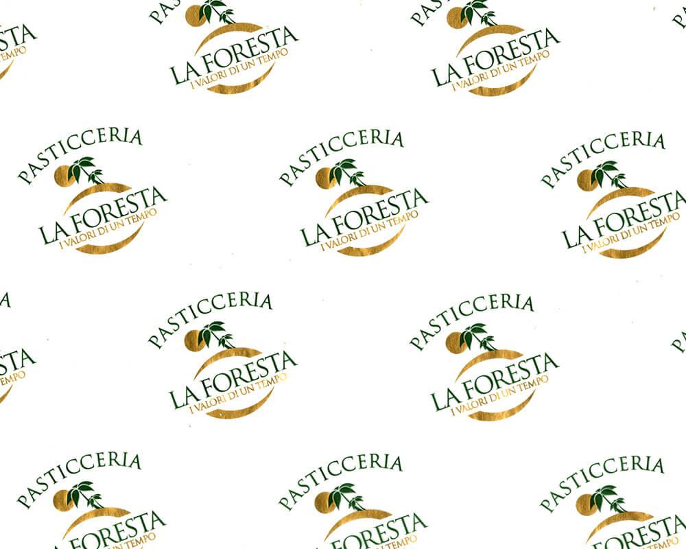 Papier parchemin - Papier parchemin avec logo personnalisé Pasticceria La foresta