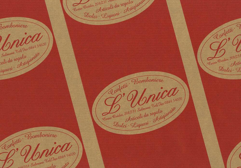 Papier d'étanchéité personnalisée sur mesure pour emballage avec logo UNICA
