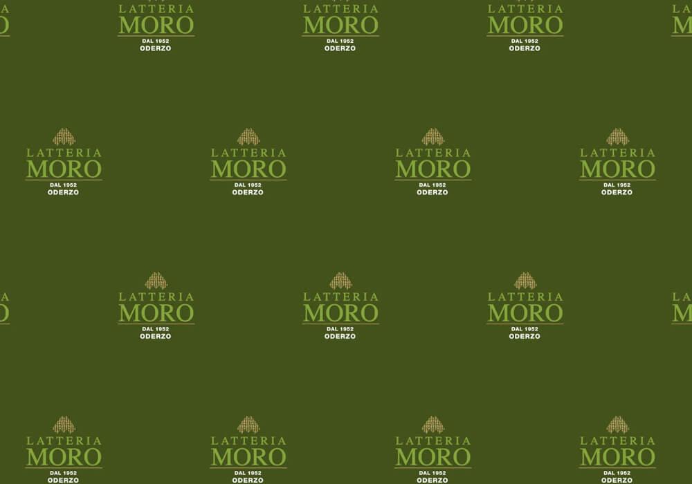 Papier polyéthylène personnalisée sur mesure pour emballage avec logo LATTERIA MORO