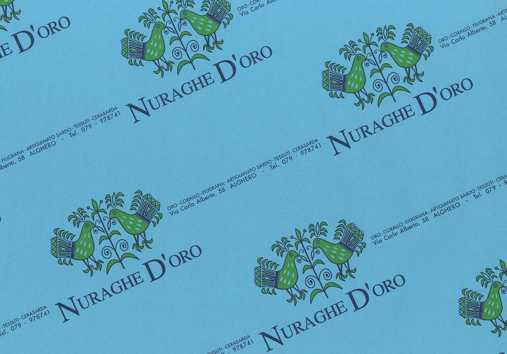 Papier kraft - Sac en papier kraft personnalisée avec logo NURAGHE D'ORO