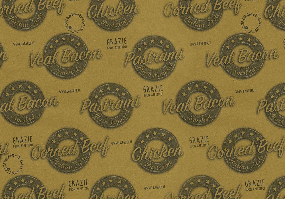 papier de paille personnalisée sur mesure pour emballage avec logo PASTRAMI